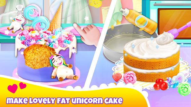 Girl Games: Unicorn Cooking Games for Girls Kids screenshot 1