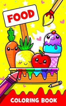 Fruits Coloring poster