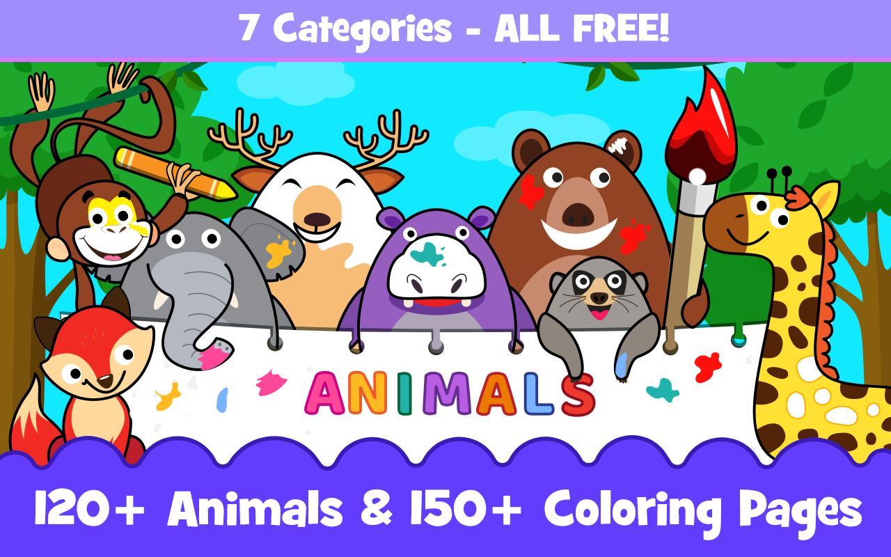 Animal Sounds for babies & Coloring book for kids for Android ...