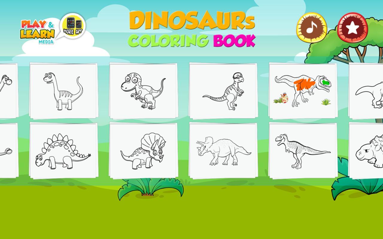 Android Için Dinozor Boyama Sayfaları Apkyı Indir