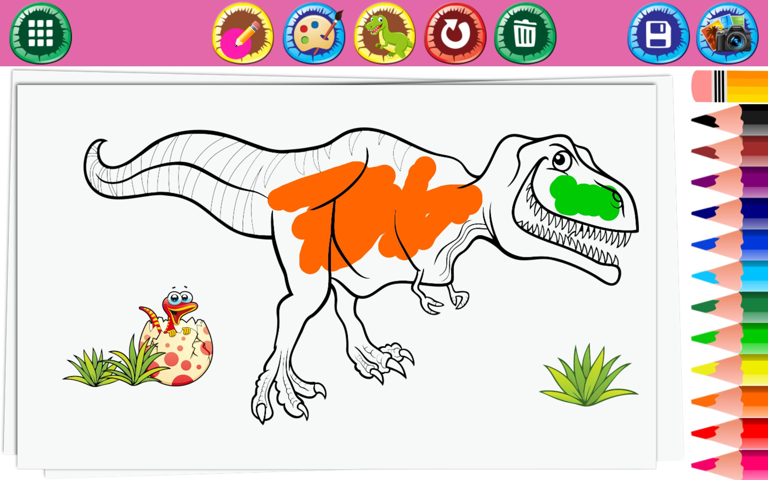 Halaman Mewarnai Dinosaurus For Android APK Download