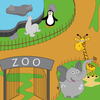 Trip to the zoo for kids 아이콘