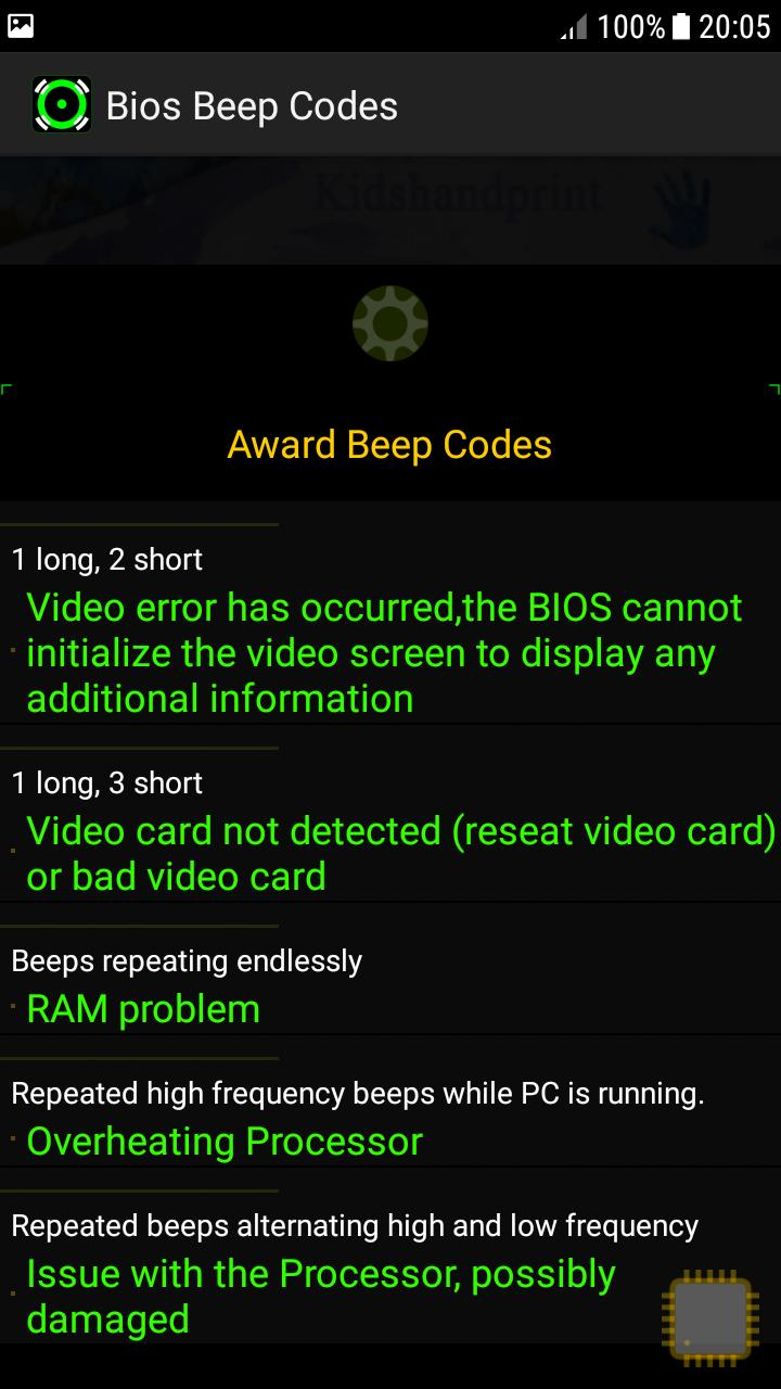 Computer POST And Bios Beep Codes for Android - APK Download