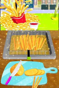 🌭🍔 Burger maker - 🍳🍟 French Fries Cooking game poster