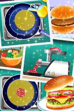 🌭🍔 Burger maker - 🍳🍟 French Fries Cooking game screenshot 3