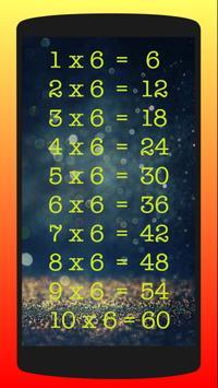 Multiplication Table 1-10 screenshot 1