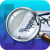 Magnifier App with Deep freez and Flashlight icon
