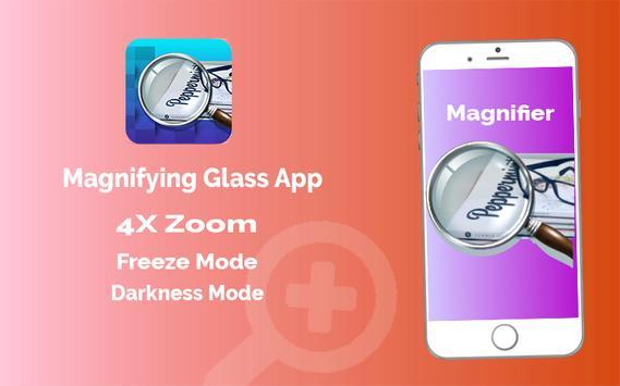 Magnifier App with Deep freez and Flashlight screenshot 1