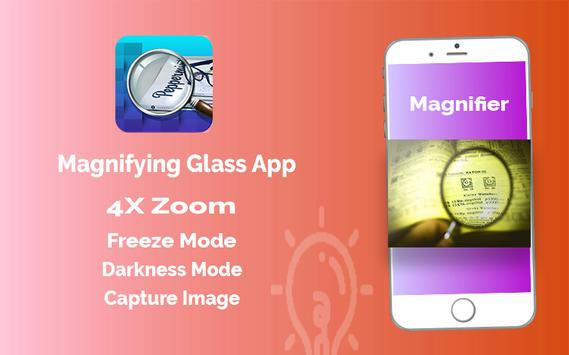 Magnifier App with Deep freez and Flashlight screenshot 2