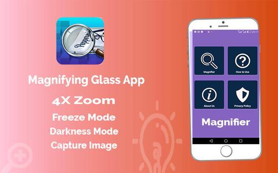 Magnifier App with Deep freez and Flashlight screenshot 3