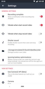 Background Video Recorder - Quick Video Recorder screenshot 5