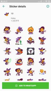 Halloween Stickers for WhatsApp, WAStickerApps screenshot 1