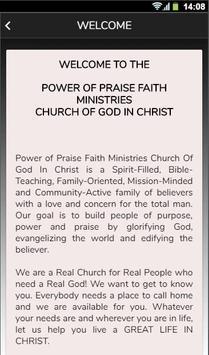 Power of Praise Faith Ministries screenshot 1