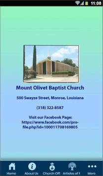 Mount Olivet Baptist Church poster