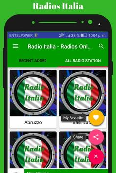Radio Italia - Radios Online screenshot 4