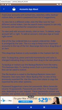 List & Edit Accounts screenshot 21