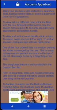 List & Edit Accounts screenshot 7