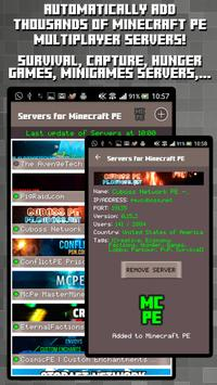 Servers for Minecraft PE poster