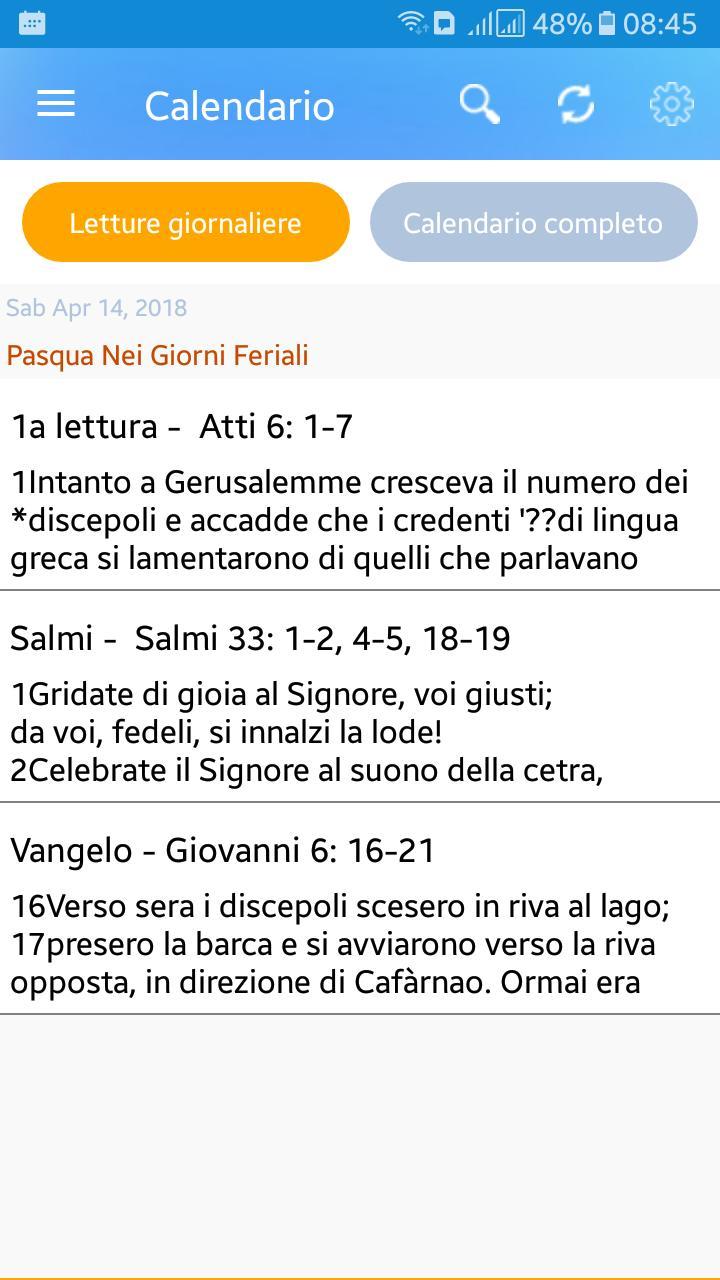 Calendario Cattolico.Calendario Liturgico Cattolico 2018 E Altro For Android