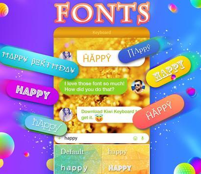 Kiwi Keyboard–Emoji, Original Stickers, and GIFs screenshot 2