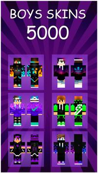 Boys Skins For Minecraft poster
