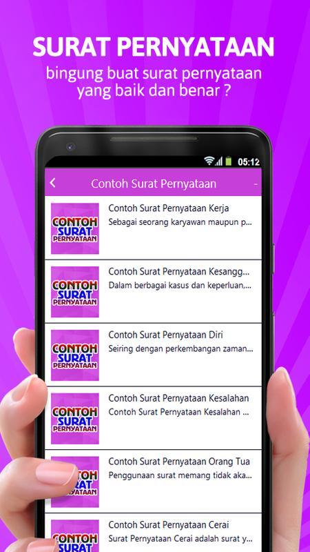 Contoh Surat Pernyataan For Android Apk Download