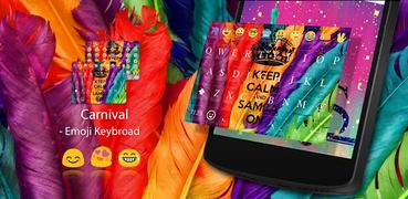 Carnival Emoji Keyboard Theme