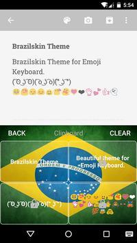 Brazil Emoji Keyboard Theme screenshot 3