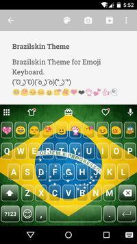 Brazil Emoji Keyboard Theme poster