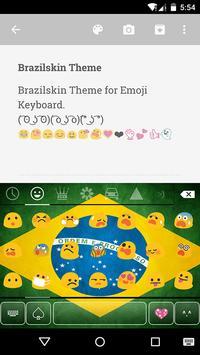Brazil Emoji Keyboard Theme screenshot 1