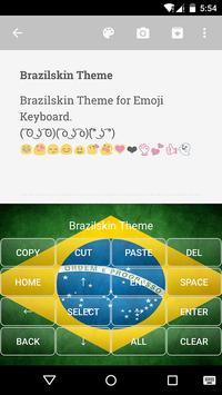 Brazil Emoji Keyboard Theme screenshot 2