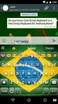 Brazil Emoji Keyboard Theme screenshot 4