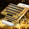 Gold Neon Emoji Keyboard icon