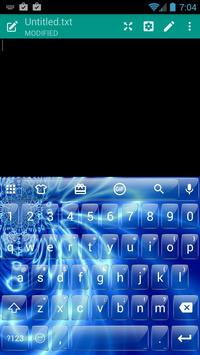 Glass Blue Wave Emoji Keyboard screenshot 6