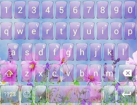 Glass PinkFlow2 Emoji Keyboard screenshot 4