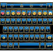 Frame Blue Gold Emoji Keyboard icon