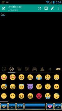 Frame Blue Gold Emoji Keyboard screenshot 3