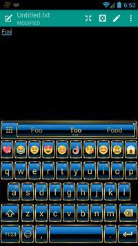 Frame Blue Gold Emoji Keyboard screenshot 1