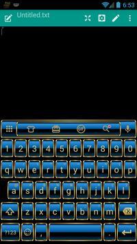 Frame Blue Gold Emoji Keyboard screenshot 2