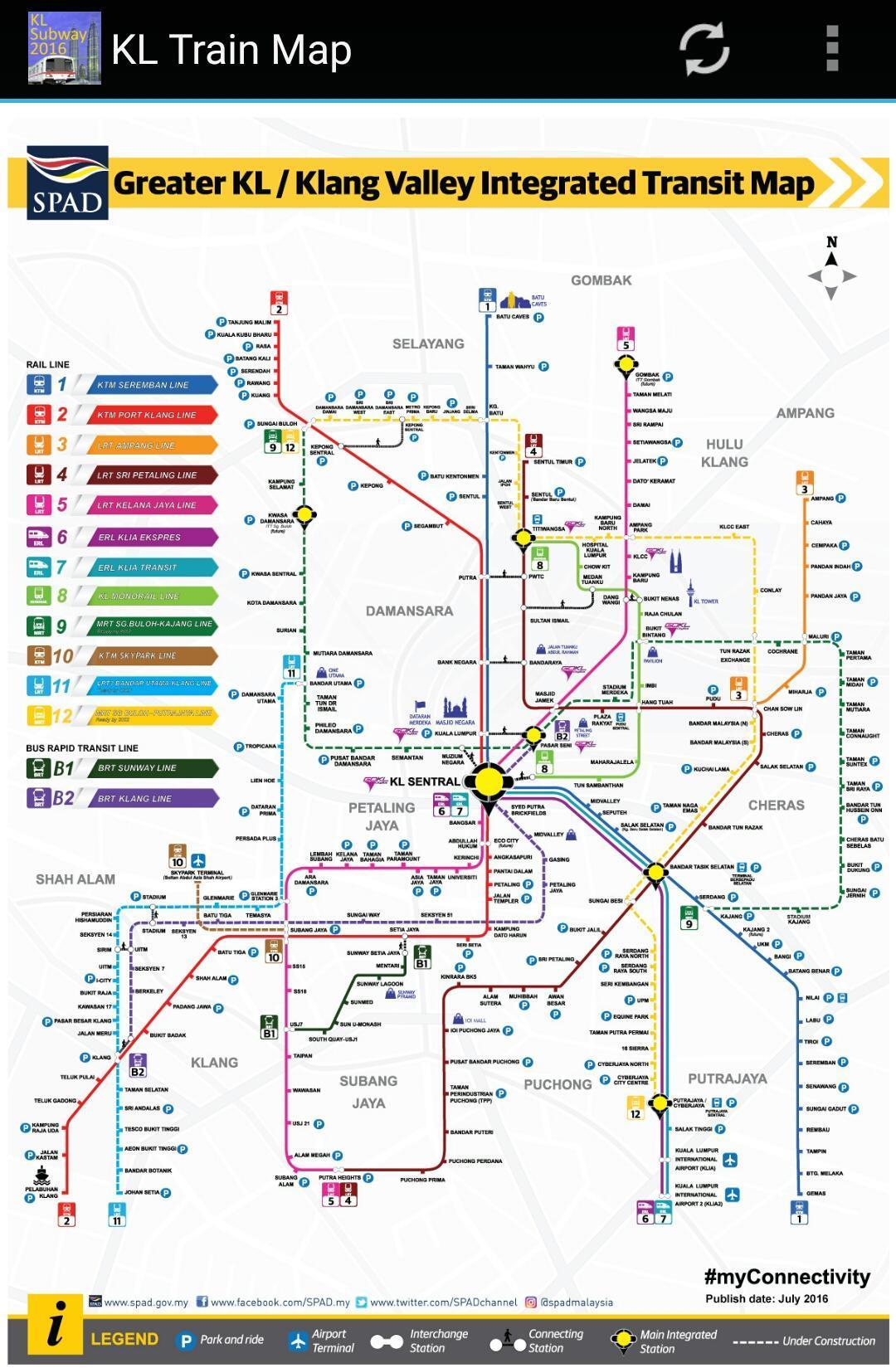Kuala Lumpur Subway Map Pdf.Kuala Lumpur Kl Mrt Lrt Train Map 2019 For Android Apk Download