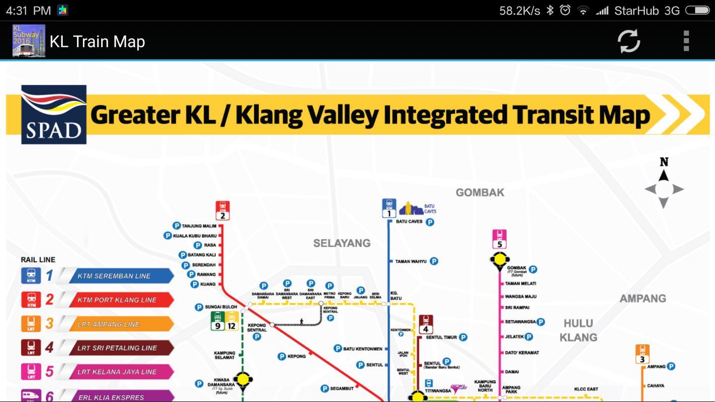 Kuala Lumpur Kl Mrt Lrt Train Map 2019 For Android Apk
