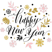 Christmas and Happy New Year 2019 stickers icon