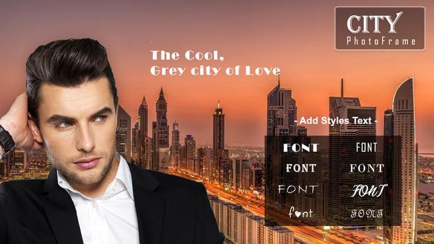 City Photo Frame poster