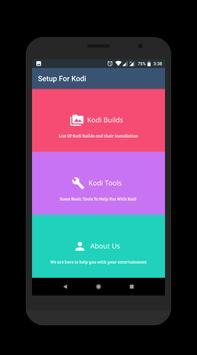Setup For Kodi captura de pantalla 1