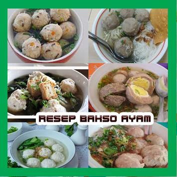 Resep Bakso Ayam Gurih poster