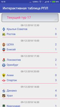 Интерактивная таблица РПЛ screenshot 5