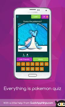Everything is pokemon quiz screenshot 1