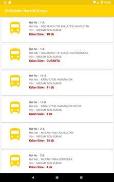Otobüsüm Nerede - Konya screenshot 15