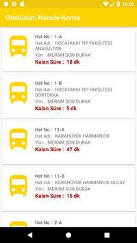 Otobüsüm Nerede - Konya screenshot 3