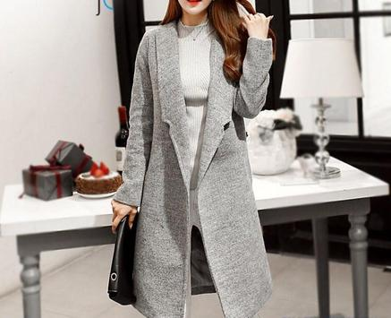 Korean Long Coat For Women screenshot 8